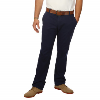 Men's Ruckfield navy blue chino trousers.