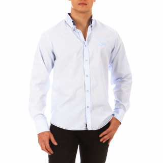 Sky blue long-sleeved shirt 100% cotton