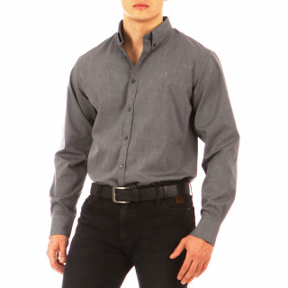 Pale grey long-sleeved shirt 100% cotton
