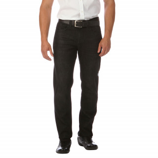 Black cotton jeans with elastane with 5 pockets for a regular cut.