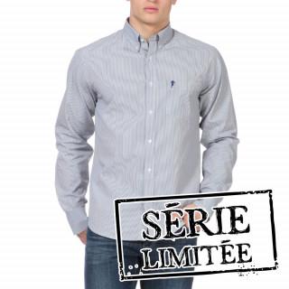 Chemise rayée à manches longues pour homme.