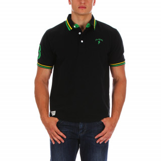 Black cotton Lycra mix polo shirt with Chabal embroidery on the chest! Available in sizes S to 5XL
