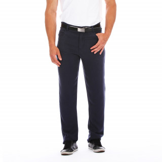 Navy blue Ruckfield trousers in cotton Lycra mix.  An elegant and easy-to-wear shape, these trousers are available from sizes 28/38 to 46/56.