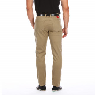 5-pocket beige trousers
