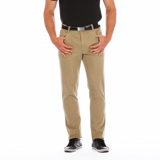 5-pocket beige trousers with the embroidered logoAvailable from sizes 28/38 to 46/56.