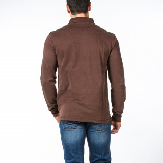 Polo de rugby marron Essentiel