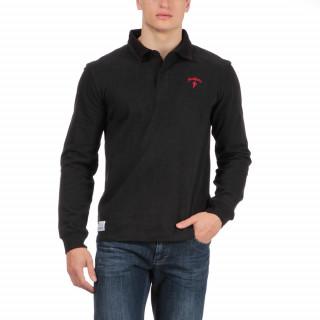 Polo en jersey de coton avec logo brodé poitrine  et matelassage épaules.
