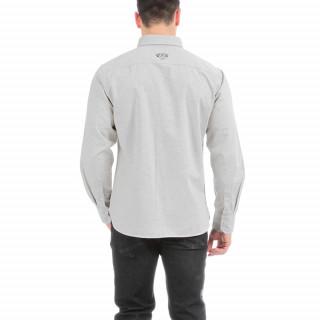 Chemise manches longues en flanelle grise