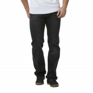 Jean Ruckfield 5 poches avec patch en cuir, bande tricolore et imprimé Coq intérieur jambes.