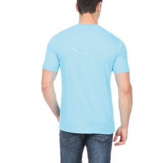 Blue T-shirt with Patch Pocket