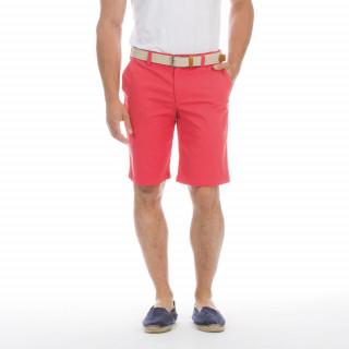 Bermuda chino rouge avec logo brodé sur poche