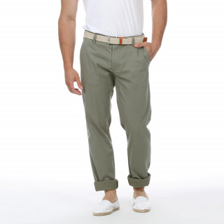 Khaki chino trousers with embroidered logo on patch pocket. Inspired by Rugby values.