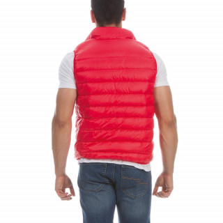 Red Rugby Short Sleeve Padded Jacket