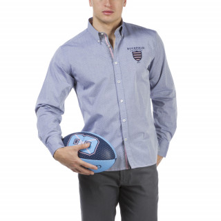 Chemise manches longues homme bleu clair We are Rugby en coton