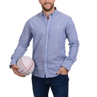 Magnifique chemise Ruckfield à rayures disponible en grandes tailles.