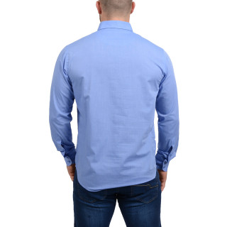 Chemise unie Chabal bleu