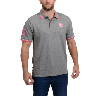 Short-sleeved grey polo shirt from the theme of Rugby Essentiel