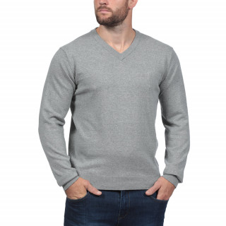 Dark grey V-necked sweater Rugby Essentiel