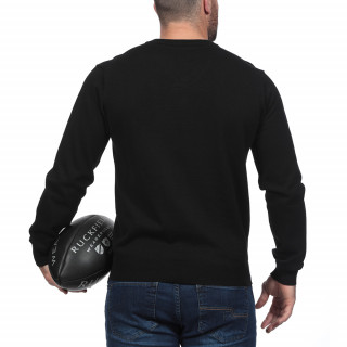 Rugby Essentiel Black Sweater