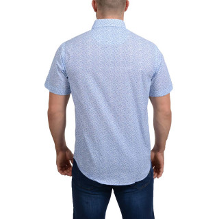 Ruckfield Light Blue Printed Shirt