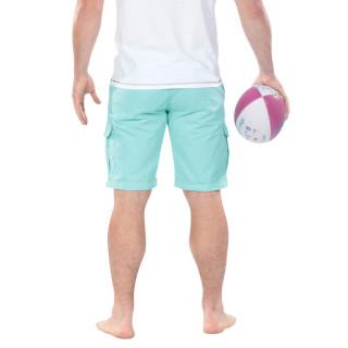 Green Rugby Cargo Bermuda Shorts