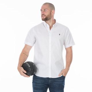 Chemise d'été coton manches courtes blanche