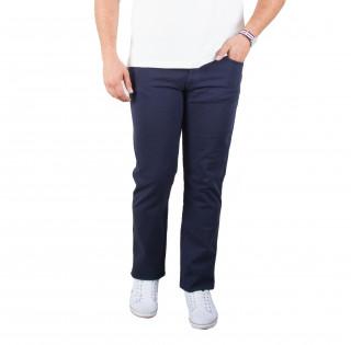 Pantalon 5 poches en coton élasthanne bleu marine avec broderie Sébastien Chabal