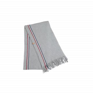 Écharpe en laine grise made in France