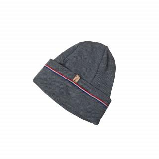 Bonnet en laine grise Made in France