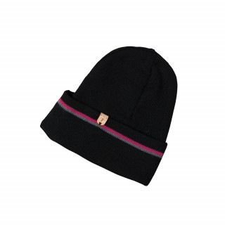 Bonnet en laine noir Made in France