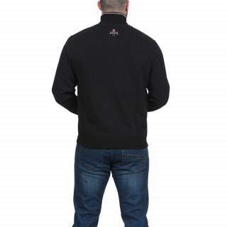 Sweat zippé noir rugby
