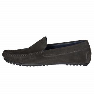 Gray suede shoe