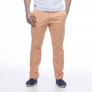 Pantalon chino orange en coton élasthanne pour plus de confort