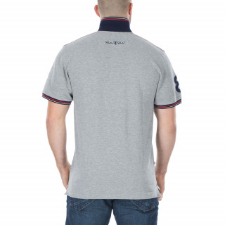 Polo piqué France gris