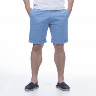 Bermuda bleu ciel en coton élasthanne.