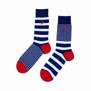 Chaussettes tricolore rayées homme disponible en 39/42, 43/46, 47/50