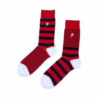 Chaussettes rayées rouge, disponible en 39/42, 43/46, 47/50