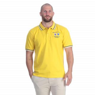 Polo de rugby nations en coton jaune avec broderies poitrine et dos. Existe en grandes tailles