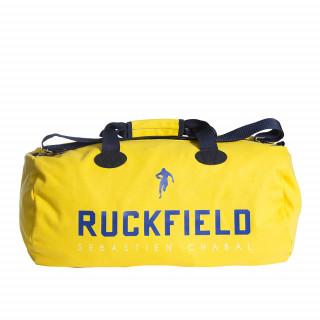 Sac de sport rugby jaune avec sérigraphie Ruckfield