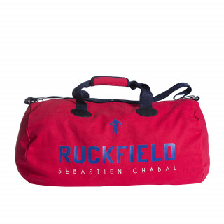 Sac de sport rugby rouge avec sérigraphie Ruckfield