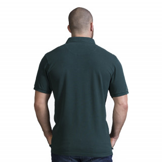 Polo homme rugby vert foncé