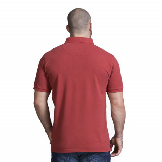 Polo homme rugby rouge foncé