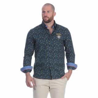 Chemise à fleurs en coton mélangée pour homme. Existe du S au 5XL