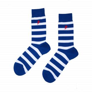 Chaussettes bleu marine rayées homme, disponible en 39/42, 43/46, 47/50