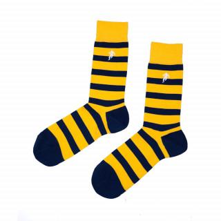 Chaussettes rayées jaune et noir homme, disponible en 39/42, 43/46, 47/50