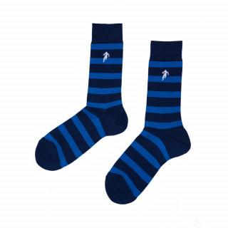 Chaussettes  rayées bleu et noir, disponible en 39/42, 43/46, 47/50