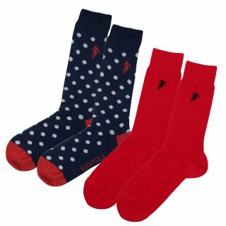 Chaussettes unies et fantaisie homme en fil de coton. Disponible en 39/42, 43/46, 47/50