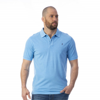 Polo homme rugby turquoise