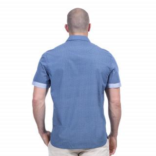 Chemise bleu rugby élégance