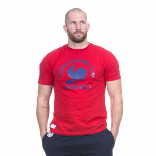 Tee-shirt manches courtes rouge avec visuels French rugby club